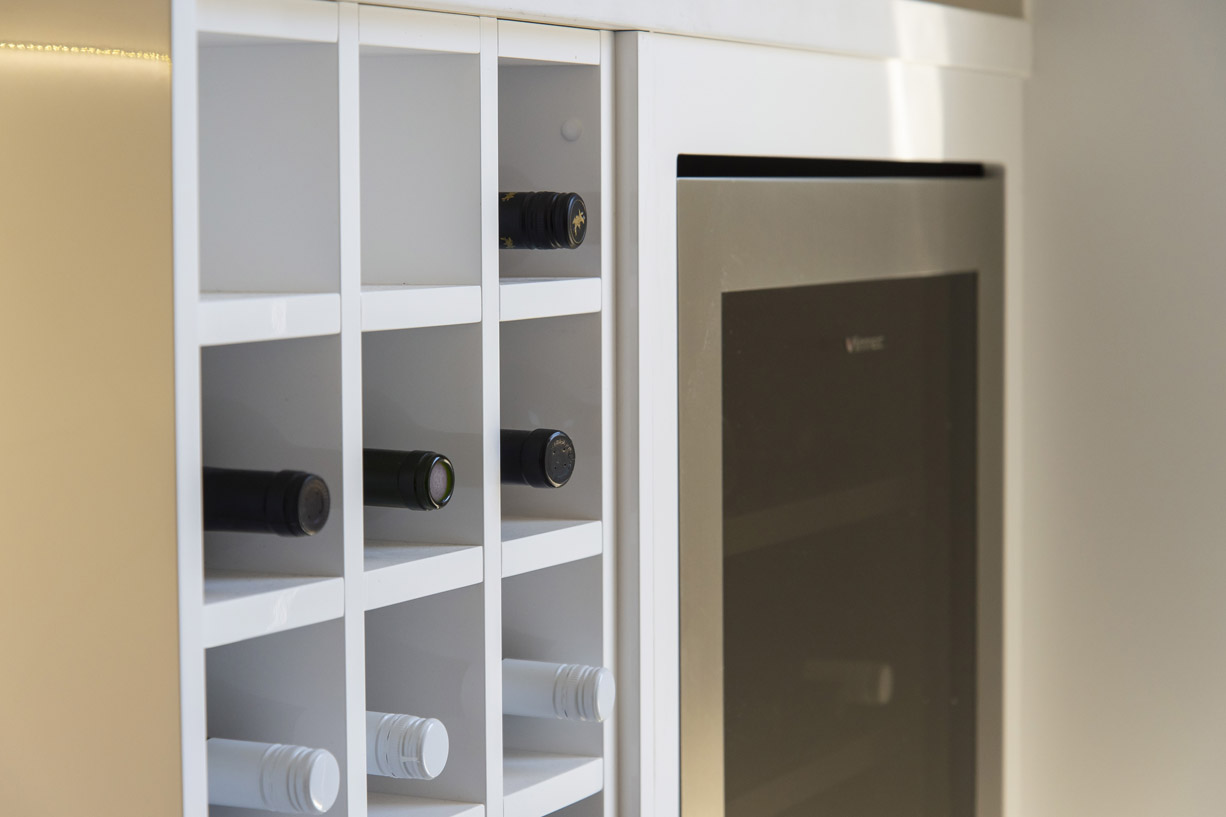 clsoe up wine rack