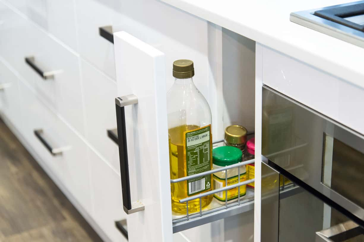 spick rack that pulls out of cupboard