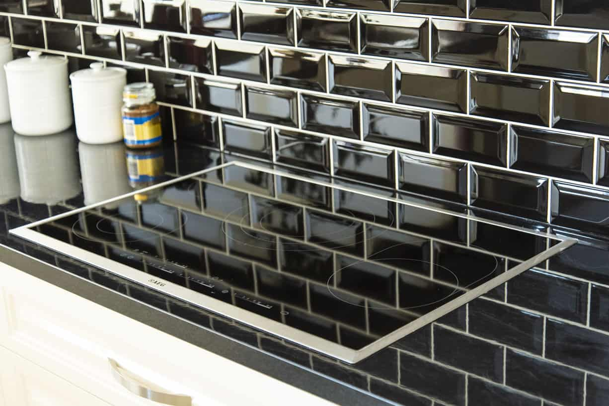 modern glass stove top